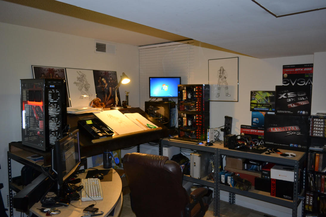 Man Cave Computer Room : The man cave by nikkocortez on deviantart