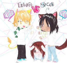 Twilight: EDWARD VS JACOB by shiningMOONLIGHT