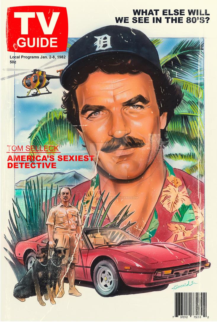 Magnum Pi Tv Guide Cover Print By Jason Kincaid On Deviantart