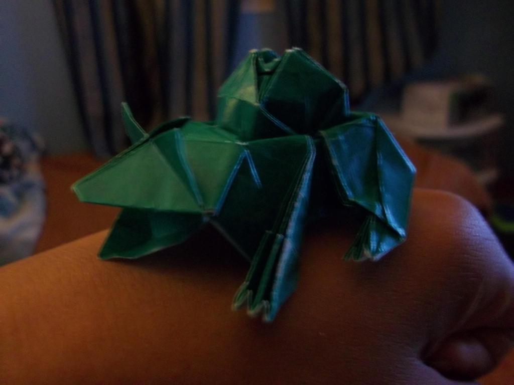 how to make origami bulbasaur