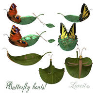 Butterfly boats by loveit by TW3DSTOCK