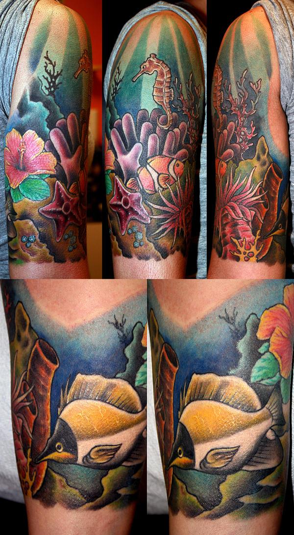 coral reef by mrtat2 on deviantart tatoo pinterest. Black Bedroom Furniture Sets. Home Design Ideas