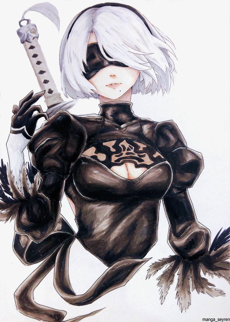 Premise Indicator Words: -Engage- Nier:Automata Fanart [2B] By MangaSeyren On