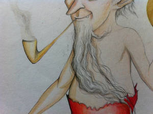 Duende con pipa - Hobgoblin with Smoking Pipe