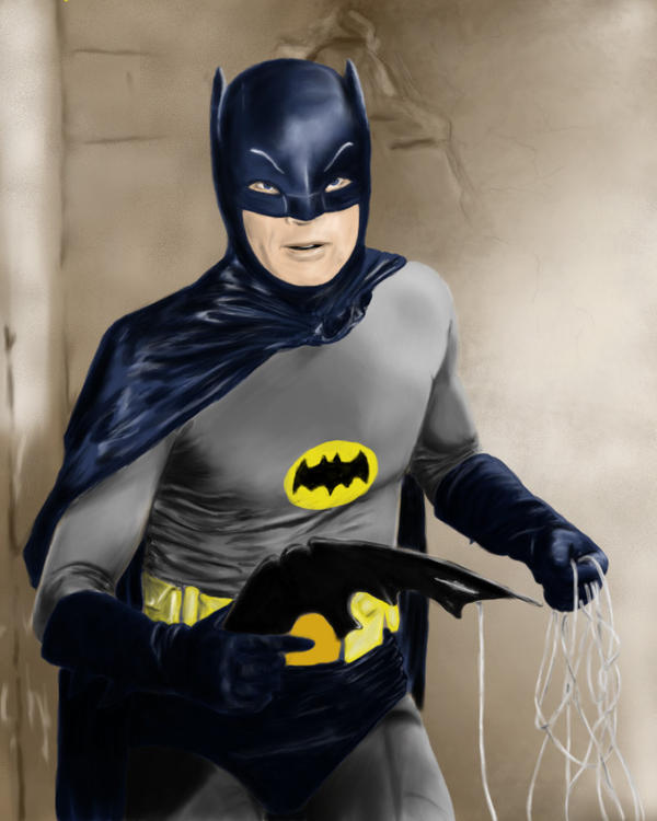 adam west batman by thesadpencil