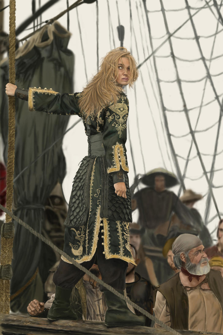 Elizabeth Swann the Pirate by thesadpencil