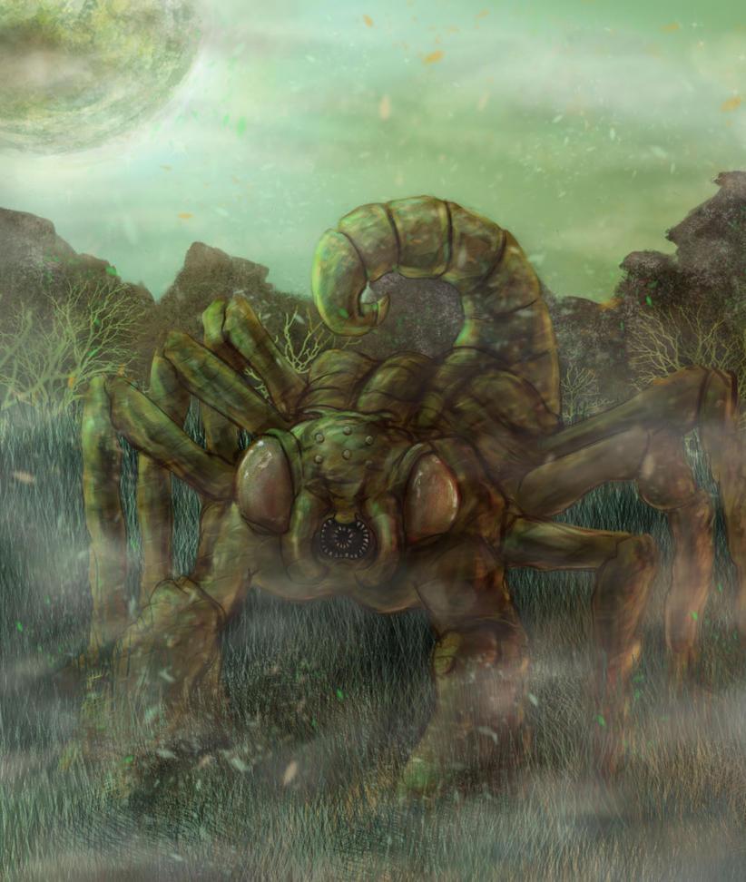 Space Alien Scorpion Creature By Thesadpencil On DeviantART