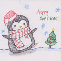 Christmas Penguin by lycheebunny