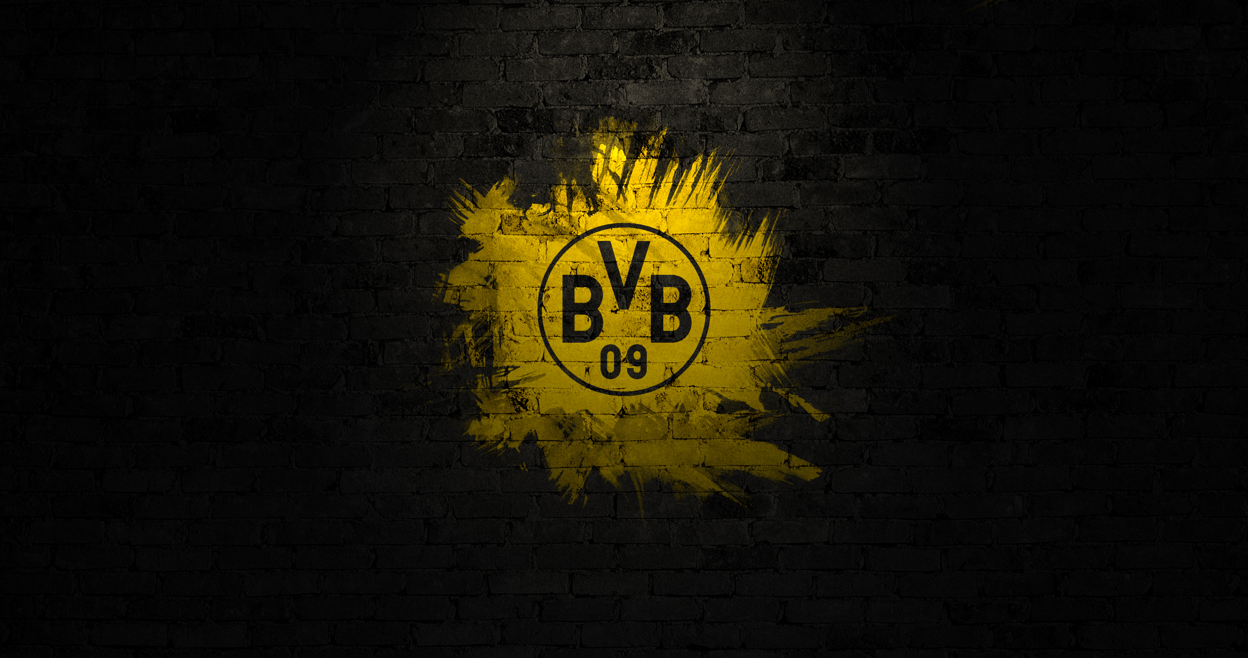 bvb logo wallpaper 4k by geryd on deviantart