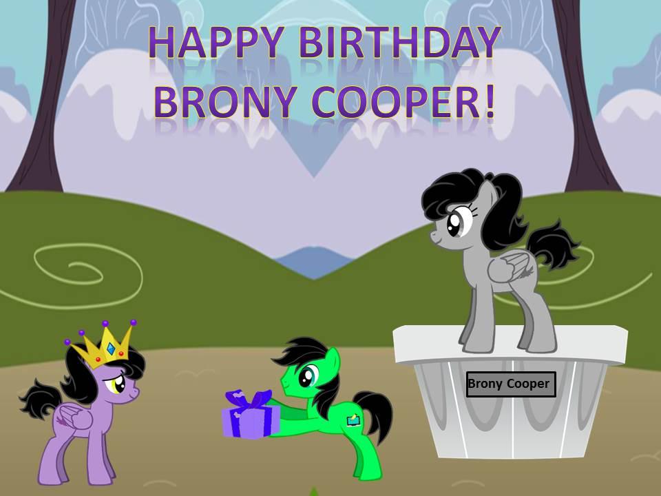 Happy Birthday Brony Cooper By Janthonyl