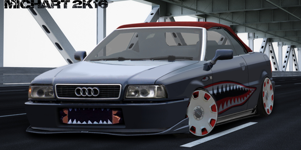 audi 80 cabrio virtual tuning by michart gimp by michart. Black Bedroom Furniture Sets. Home Design Ideas
