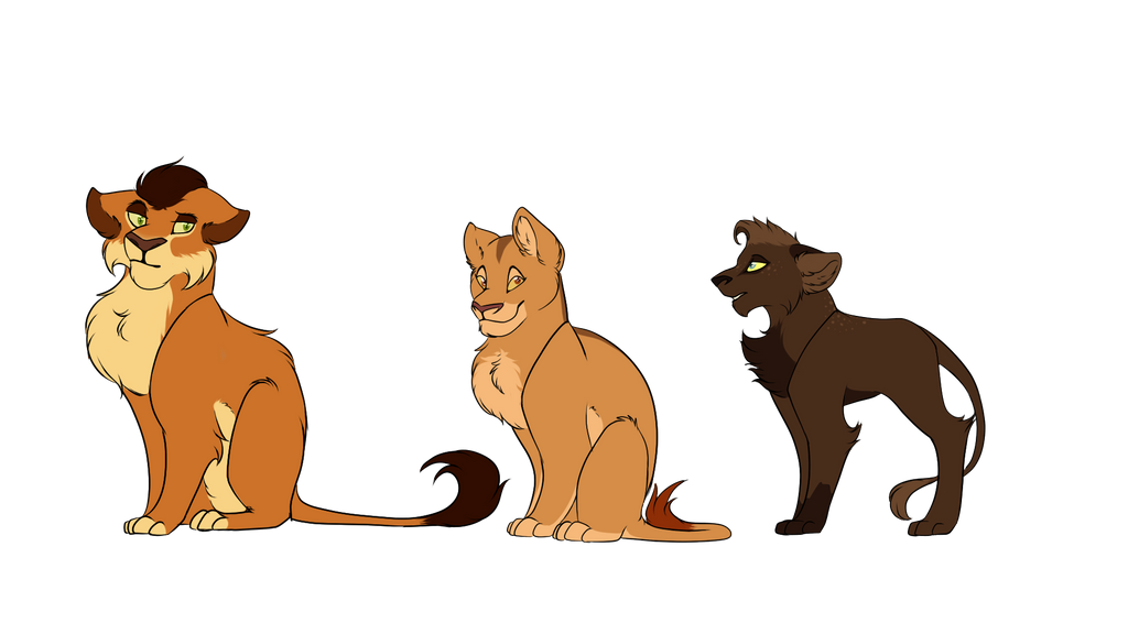 Lion Cub Adopts by LadyPipen