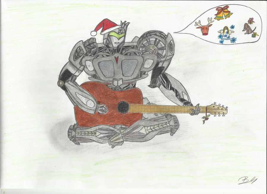 Jazz singing Christmas carols by LadyIronhide