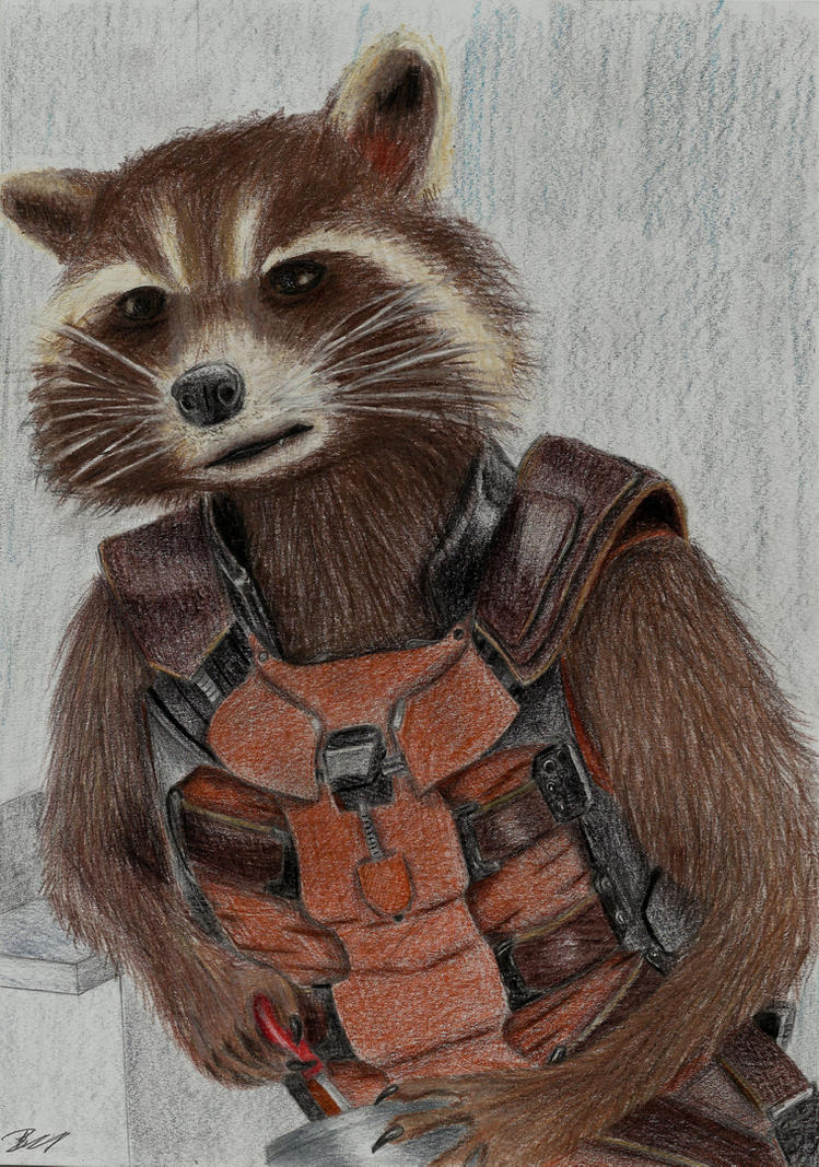 Rocket Raccoon by LadyIronhide
