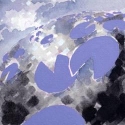 Purple Lilypads by ArtistaRachel