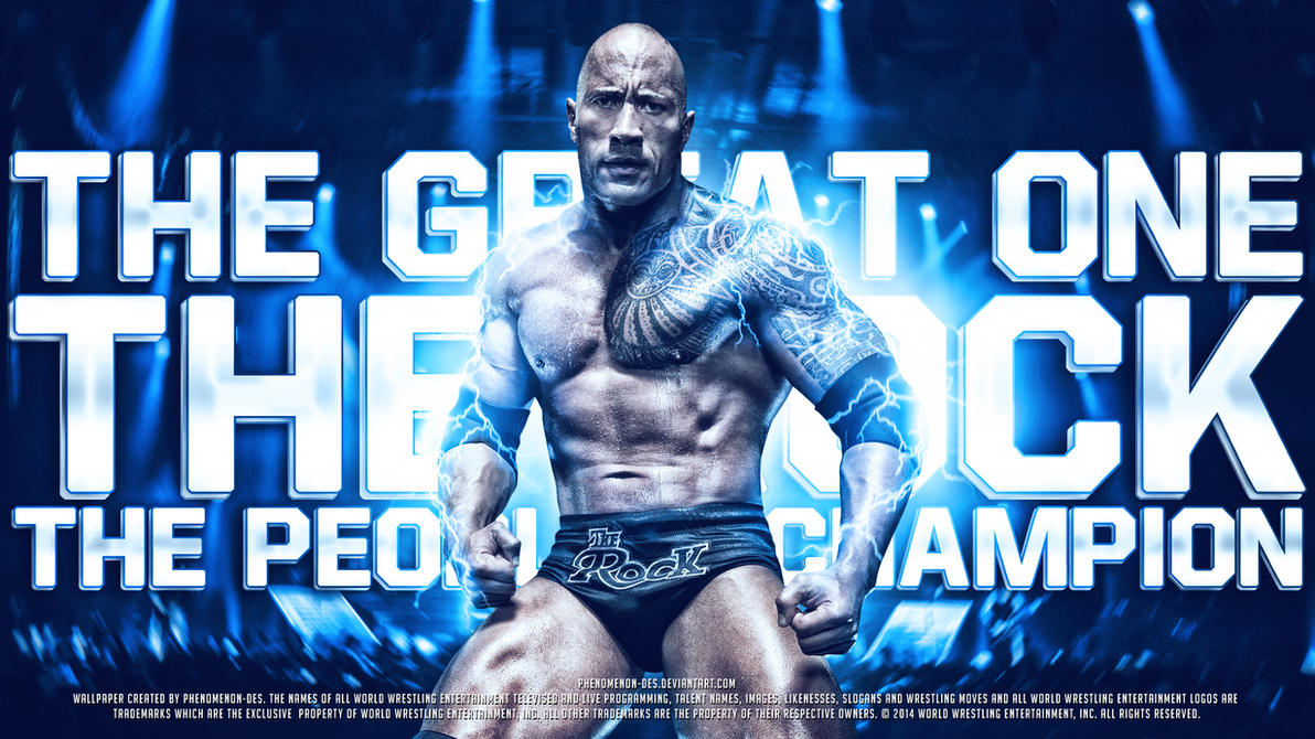 WWE The Rock Wallpaper By Phenomenon Des