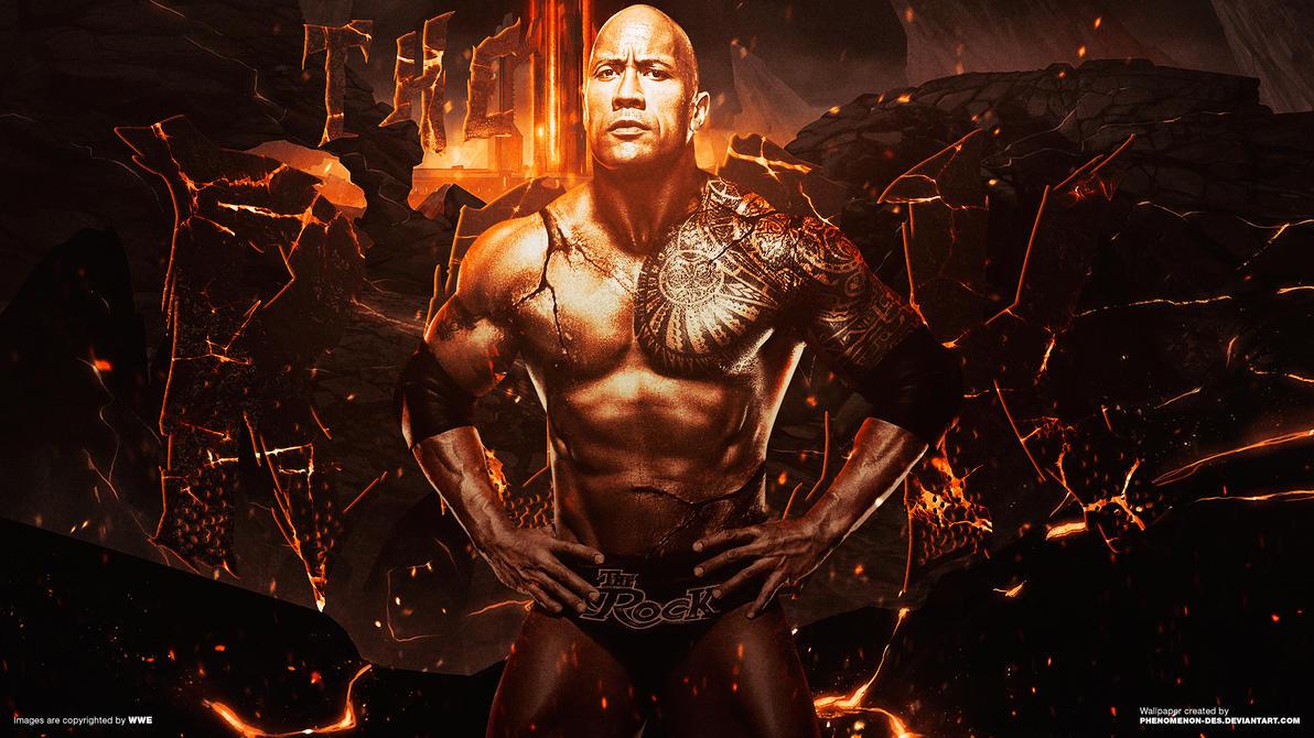 WWE The Rock Wallpaper V2 By Phenomenon Des