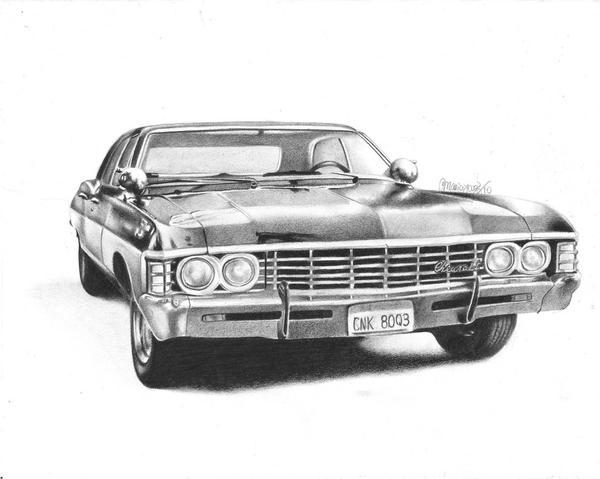 Chevy Impala Supernatural By MaPaMe
