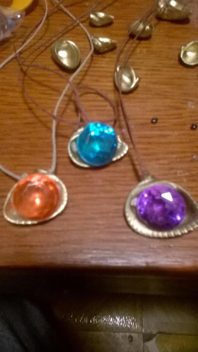 jeweled seashell pendant by arthurdentrgv