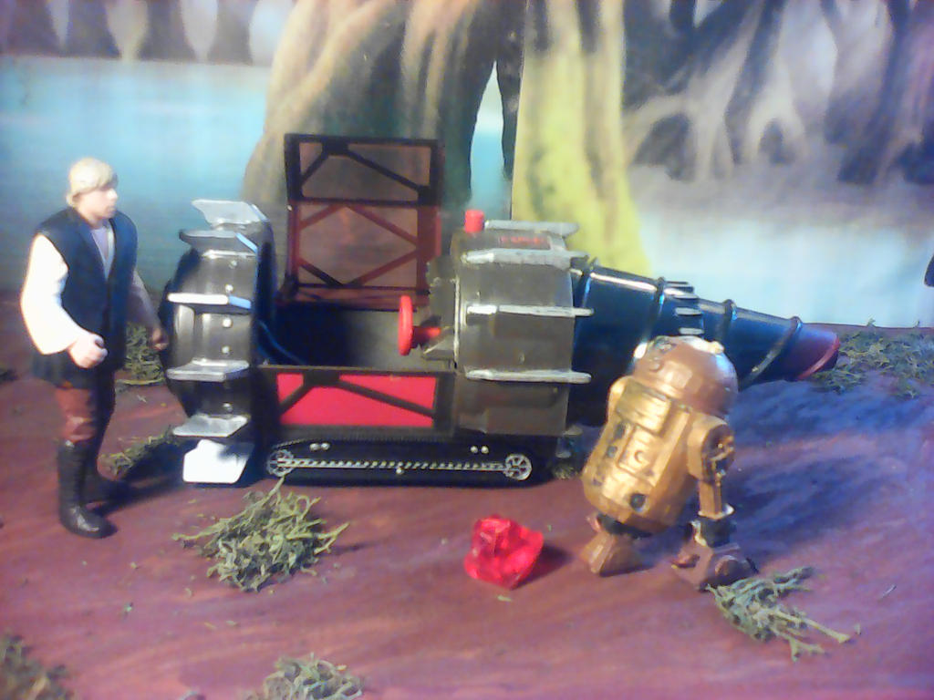 Steampunked Mole pod in diorama by arthurdentrgv