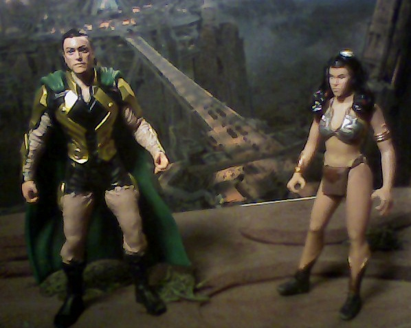 Two custom figures of John Carter and Dejah Thoris by arthurdentrgv