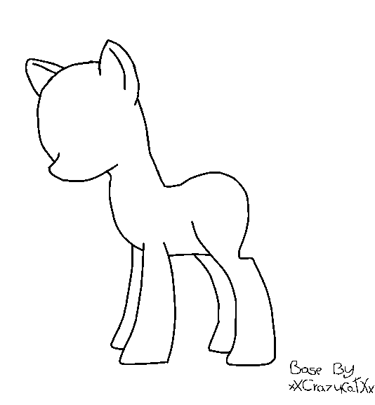 My Little Pony Base Coloring Pages Sleeping