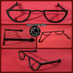 Halfmoon Fursuit Glasses by FuzzButtFursuits