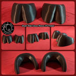 Small Wide Cloven Hooves 3D Printed by FuzzButtFursuits