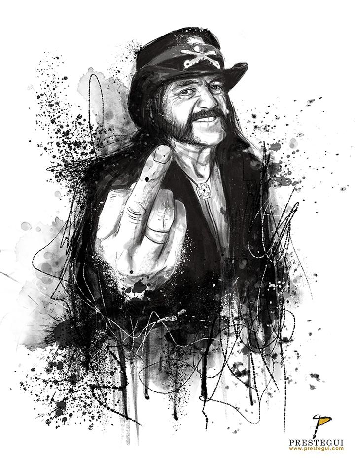 Lemmy tribute by Prestegui