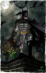 Batman vs Predator by Prestegui
