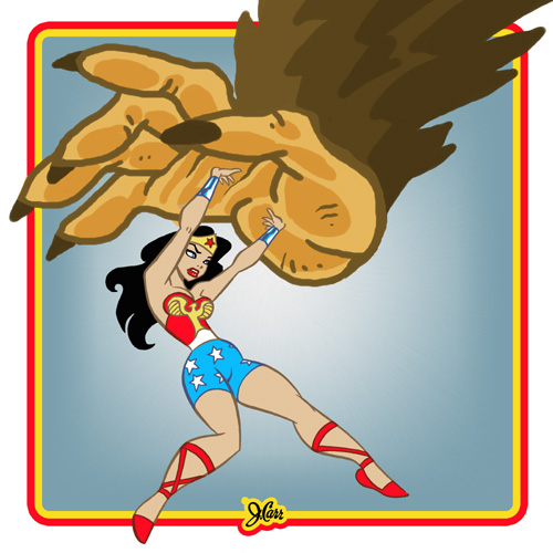 Retro Wonder Woman by jerrycarr