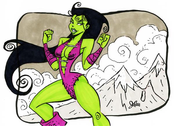 Kulan Gath She Hulk by jerrycarr