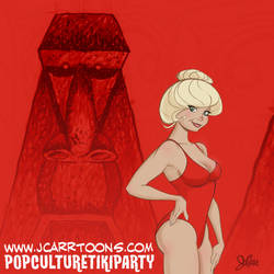 Loni Anderson at the Pop Culture Tiki Party by jerrycarr