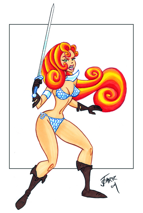 Another Red Sonja by jerrycarr