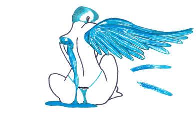 Blue Wing by Sempai-Tem