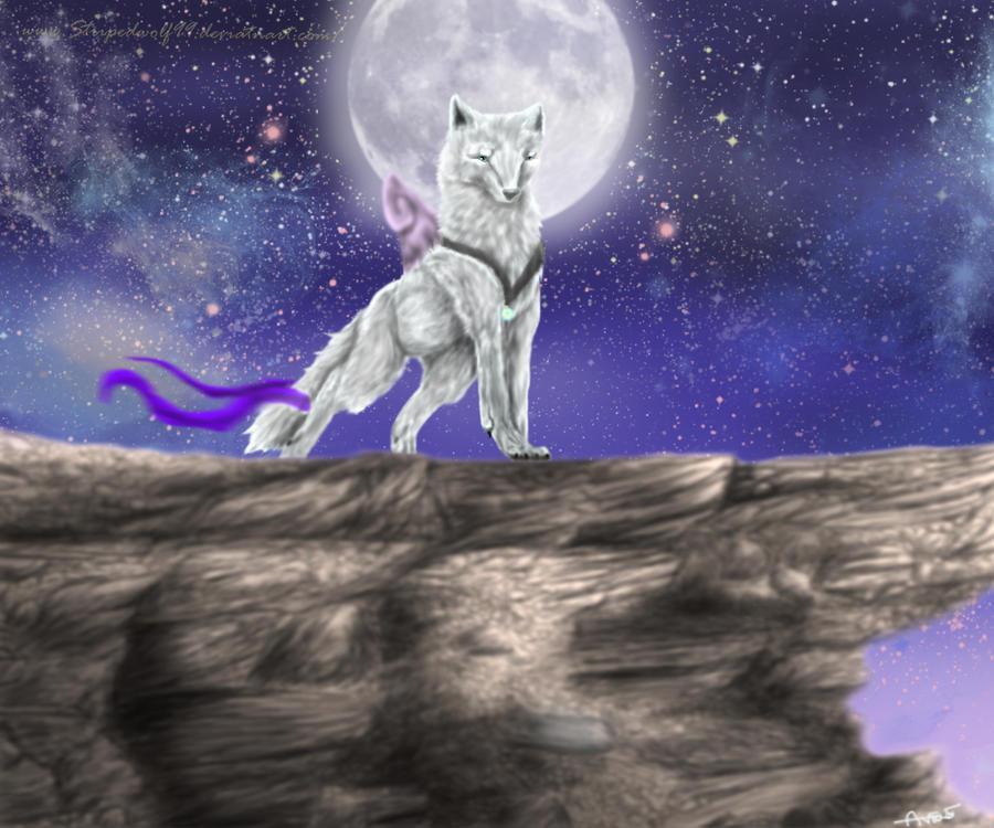 White Wolf Moon by Aviaku on DeviantArt