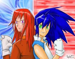 Red vs. Blue by EvilMel