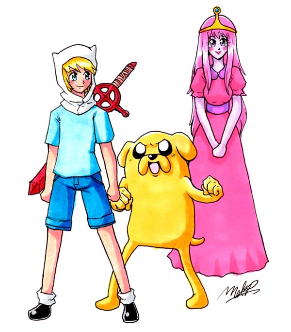 Anime Adventure Time by EvilMel on DeviantArt