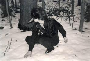 raven in the snow by Reymonkey