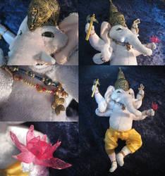 Ganesha plush by Reymonkey