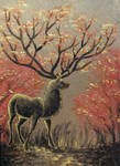Art Card Autumn Stag