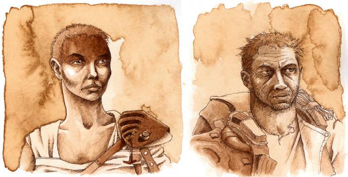 Coffee portraits: Furiosa and Max