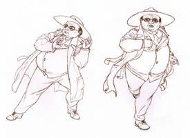 Dirk sketches