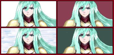 Eirika Pixel Portrait BG Test by Kagemusha-Oulmn