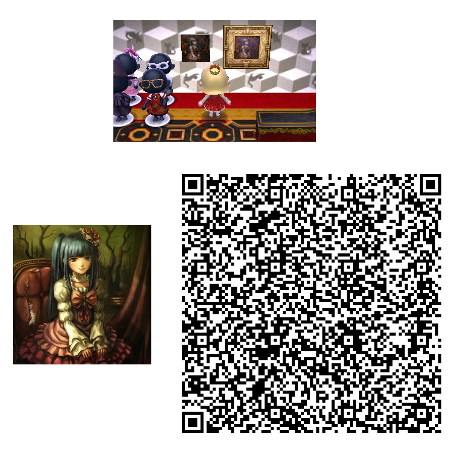 Acnl umineko painting qr 5 by lykantropia on deviantart for Animal crossing mural