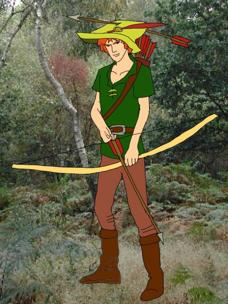 Cartoon Characters Hood Version : Robin hood humanized disney s cartoon version by