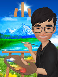 The Artist Painting His Own World [ZEPETO]