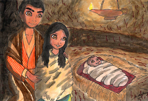 And She Laid Him in a Manger [NATIVITY SCENE]