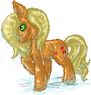 Wet Applejack by MysticMistSong