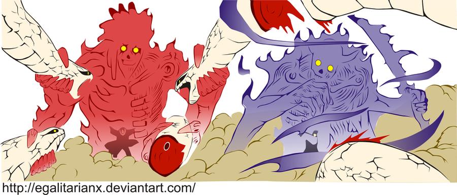 Itachi And Sasuke Susanoo By EgalitarianX